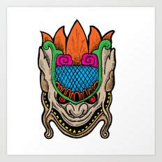MASK MONSTER Art Print
