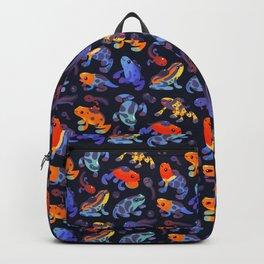 Poison dart frogs - dark Backpack
