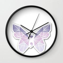 Mental Health Butterfly Wall Clock