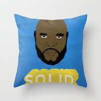 solid Throw Pillows featuring Solid Gold by Chase Kunz