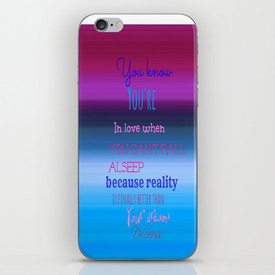 Dr. Seuss Quote iPhone & iPod Skin