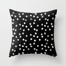 White Dots Throw Pillow