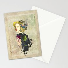 retro woman Stationery Cards