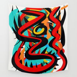 Primitive Abstract Art Street Style Wall Tapestry