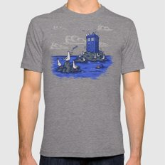 The Seagulls have the Phonebox Tri-Grey LARGE Mens Fitted Tee