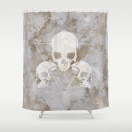 Marble Skulls Shower Curtain