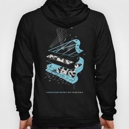 Floating Piano Factory Shirt Illustration by S. Ferone Hoody