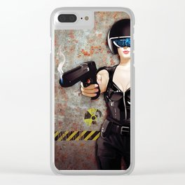 Eyes Up Here Boys Clear iPhone Case