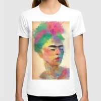 frida kahlo T-shirts featuring frida kahlo by vale agapi
