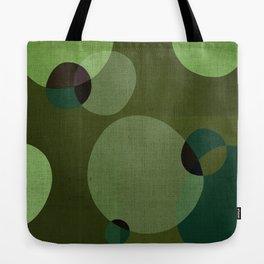 """""""Retro Green Super Dots"""" Tote Bag"""
