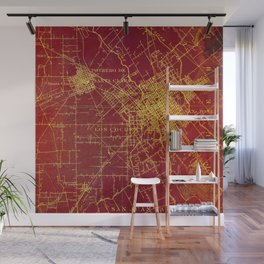 San Jose old map year 1899, united states vintage maps Wall Mural
