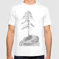 Quilted Forest I  MEDIUM Mens Fitted Tee White
