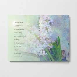 Serenity Prayer Hyacinths Blend Metal Print