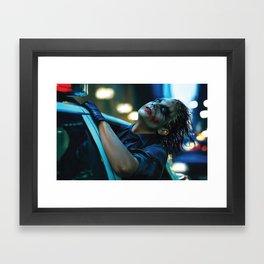 Joker Heath Ledger Framed Art Print