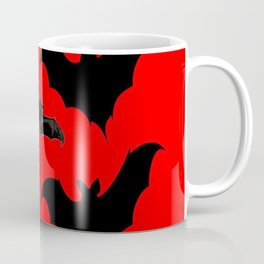 HALLOWEEN BATS ON BLOOD RED DESIGN Coffee Mug