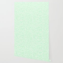 Tiny Spots - White and Light Green Wallpaper