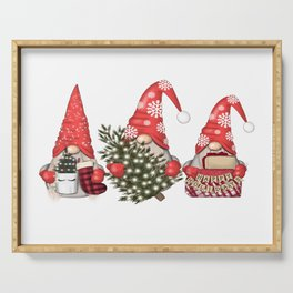 Christmas Gnome Serving Tray