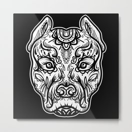 Pitbull tatto Metal Print