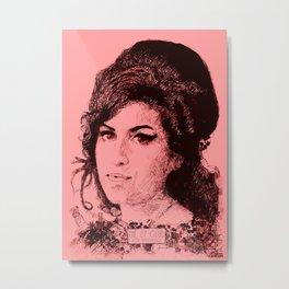 27 Club - Winehouse Metal Print