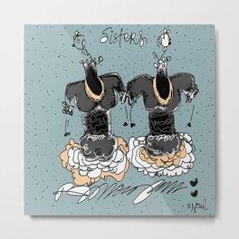"""""""Sisters"""" RJMorgan Metal Print"""