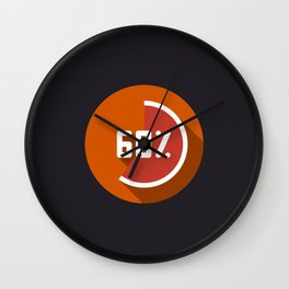 "Illustration ""percentage - 60%"" with long shadow in new modern flat design Wall Clock"