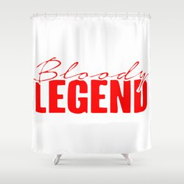 Bloody Legends Logo Shower Curtain