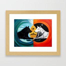 Vesica Pisces Hermetic Portal Framed Art Print