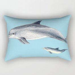 Blue Bottlenose dolphin Rectangular Pillow