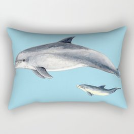 Blue Bottlenose dolphin Rectangular Pillow