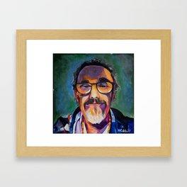 Portrait of the Artist Smirking Framed Art Print