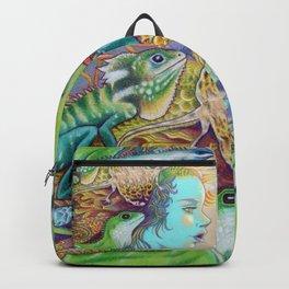 A Tangle Of Lizards, Lizard Art Backpack