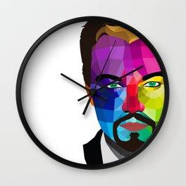 Leonardo DiCaprio - popart portrait Wall Clock