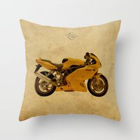 ducati Throw Pillows featuring Ducati Apollo 1963 by Larsson Stevensem