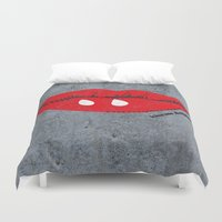 angelina jolie Duvet Covers featuring Kiss Me Angelina by FTF by marge fellerer