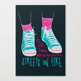 Streets on fire Canvas Print