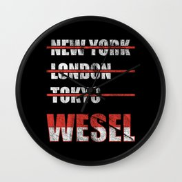 Wesel Cities  Wall Clock