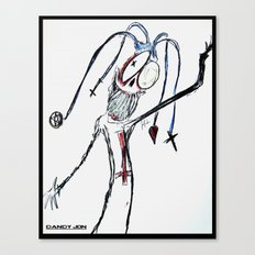Harlequin Oddity Canvas Print