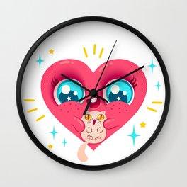Hear and ct Wall Clock