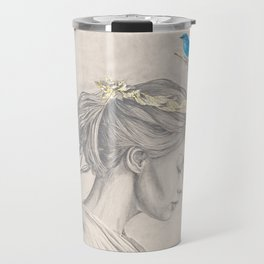 Glimmering gold crown Travel Mug