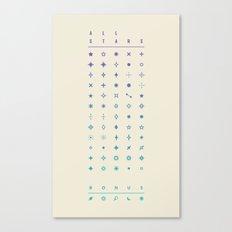 ALL STARS + BONUS Canvas Print