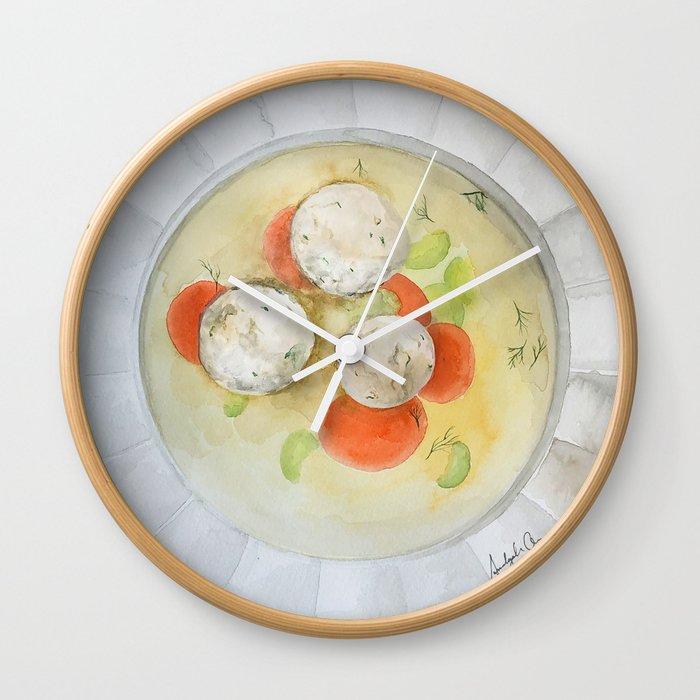 Matzo Ball Soup Wall Clock