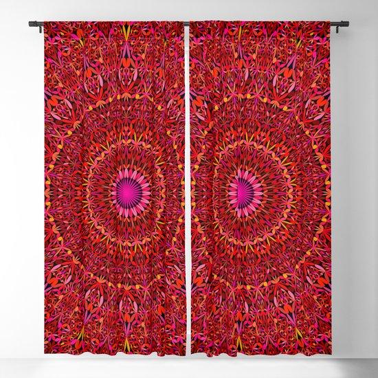 Red Jungle Mandala by davidzydd