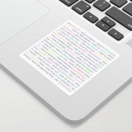 Colored Web Design Keywords Poster Sticker