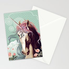 Unicorns live forever Stationery Cards