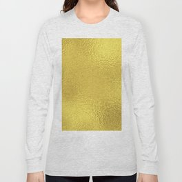 Simply Metallic in Yellow Gold Long Sleeve T-shirt