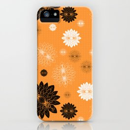 Antiqued Flowers Gold iPhone Case