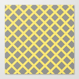 Grey and Yellow Grill Canvas Print