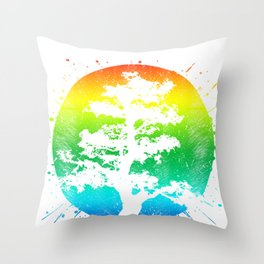 Japanese Buddha Tree for Meditation Throw Pillow