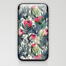 Painted Protea Pattern iPhone & iPod Skin