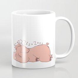 Sleepy piggy Coffee Mug
